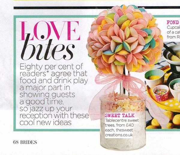 Flying Saucer Sweet Tree in Vogue Brides Magazine Article
