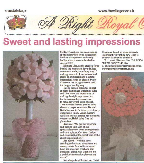 Sweet Trees in the Villager Newspaper Editorial