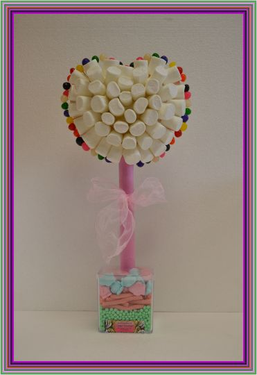 Kosher Heart Marshmallow Sweet Tree 40cm