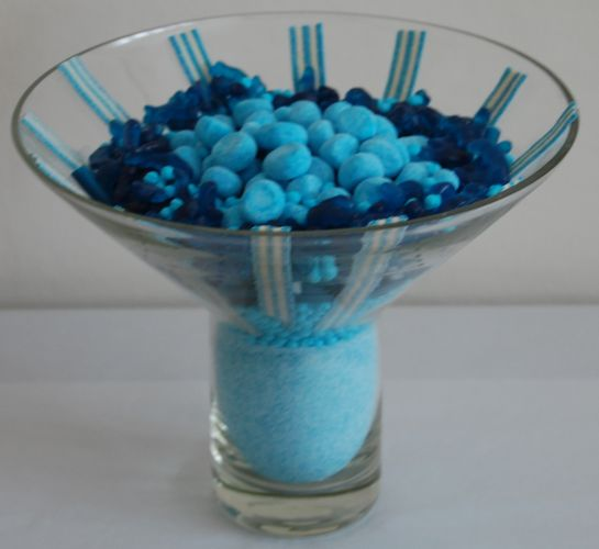 Blue Surprise Sweet Arrangement