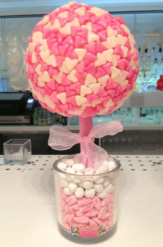 Pink & White Hearts Sweet Tree