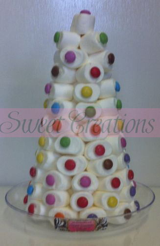 Christmas Marshmallow Smarties Cone Sweet Tree