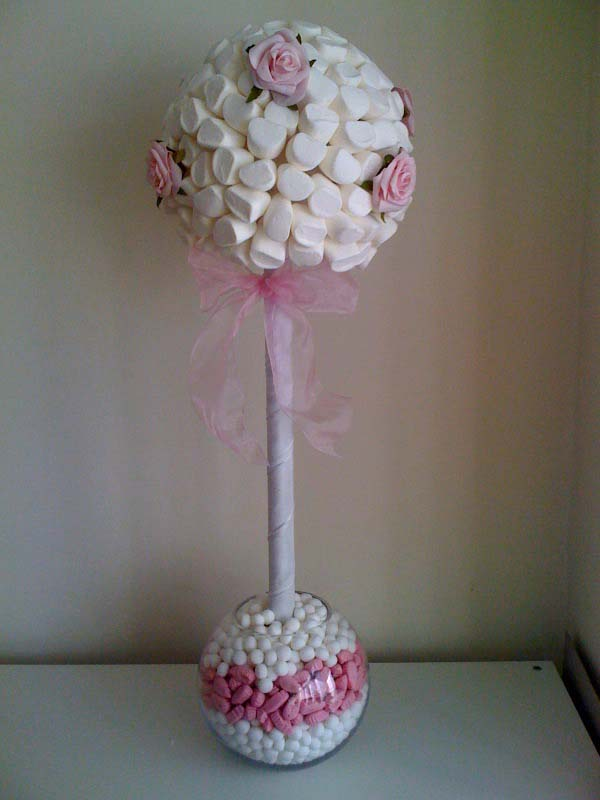 Tall Pink & White Rose Tree